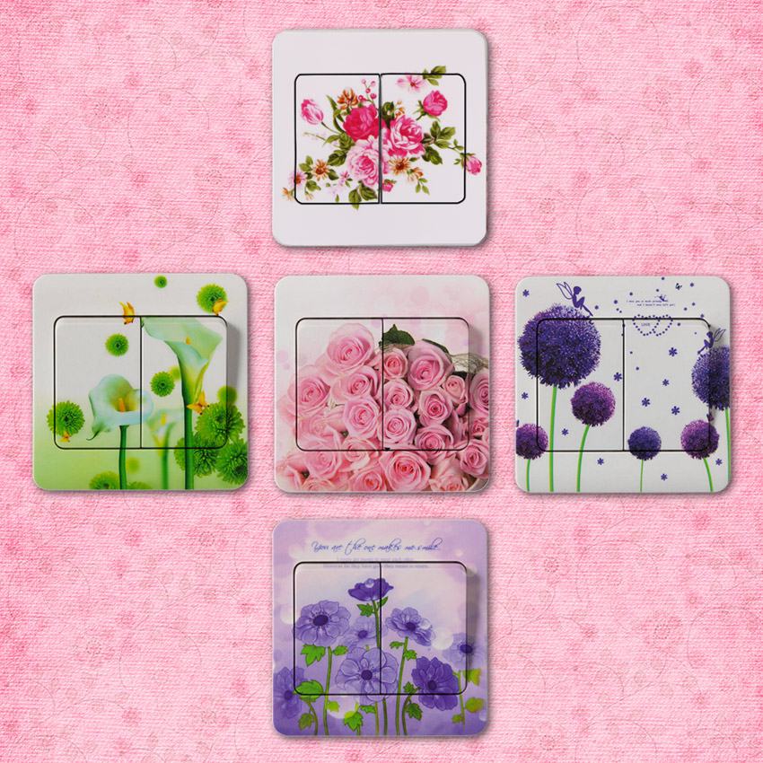 HTB1l.BeSVXXXXa2apXXq6xXFXXXY - 10 PCS High Quality Flower Series PVC Switch Stickers