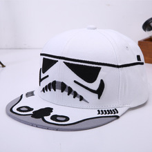 2017 Hot sale Boy Novel Embroidery Plain Edge Cap Snapback Cap Hip-hop Baseball Hat Tide Men Women Summer Caps black White(China)