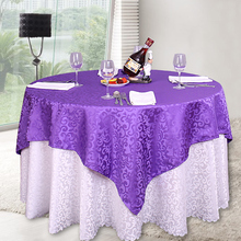 Factory Whole 10PC/Pack Luxury Polyester Floral Jacquard Tablecloth White Table Cloth for Wedding  Party Decoration Hotel Linens