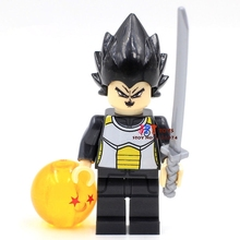 Single Sale starwar superhero marvel building blocks Dragon Ball Son Goku Series model bricks toy for children brinquedos menino(China)