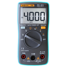 RM100 TrueRMS Multimeter DMM DCAC Ammeter Voltmeter ohmmeter capacimetro Frequency Duty Tester Automatic Polarity Identification(China)