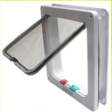 New Medium Large White Brown 4-Way Magnetic Lockable Pet Cat Dog Safe Flap Door(China)