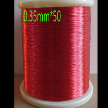 cltgxdd free shipping QA-1-155 Red Magnet Wire 0.35mm *50m / pcs Enameled Copper wire Magnetic Coil Winding(China)