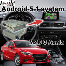 Android 4.4 5.1 GPS navigation box for Mazda 3 Axela with cast screen youtube google play video interface(China)