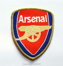 Hot ! Free shipping red Football Badge iron on applique or Sew on fashion embroidery applique patch