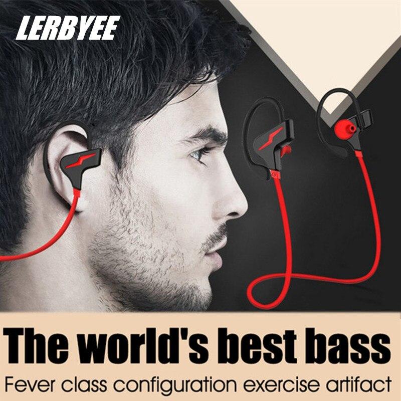 Lerbyee Bluetooth Earphone Ear-Hook Bluetooth Headset Wireless Binaural Stereo CSR Waterproof Suitable For Sports Gym Jogging<br>
