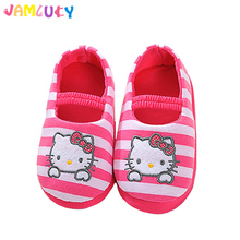 Girls Slippers Children Winter Shoes Home Use Baby's Cute Cat Pink Slippers Girls 1-5 Years Winter Warm Shoes Kids Boys