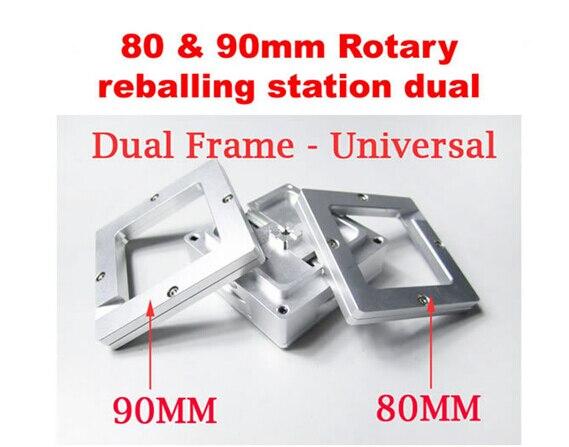 universal Bga reballing jig 80mm &amp; 90mm reballing station with Rotaty auto locking for holding 80 &amp; 90mm stencils<br>