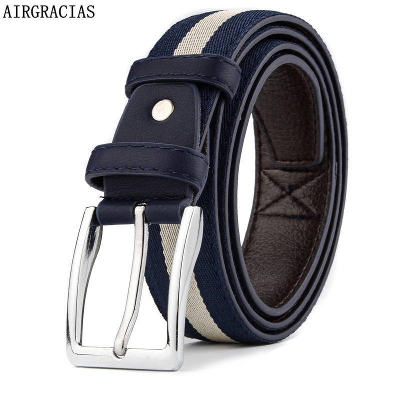 AIRGRACIAS Brand Men Canvas Belt Fashion Designer ...