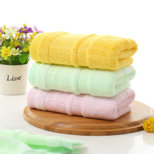 High quality 33*74cm Jacquard Towel  Natural Bamboo Fiber Hand Face Towel Bathroom Use Towel