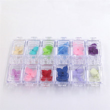 12pcs / set nail color three - dimensional dried flowers really flower nail jewelry nail art glitter(China)