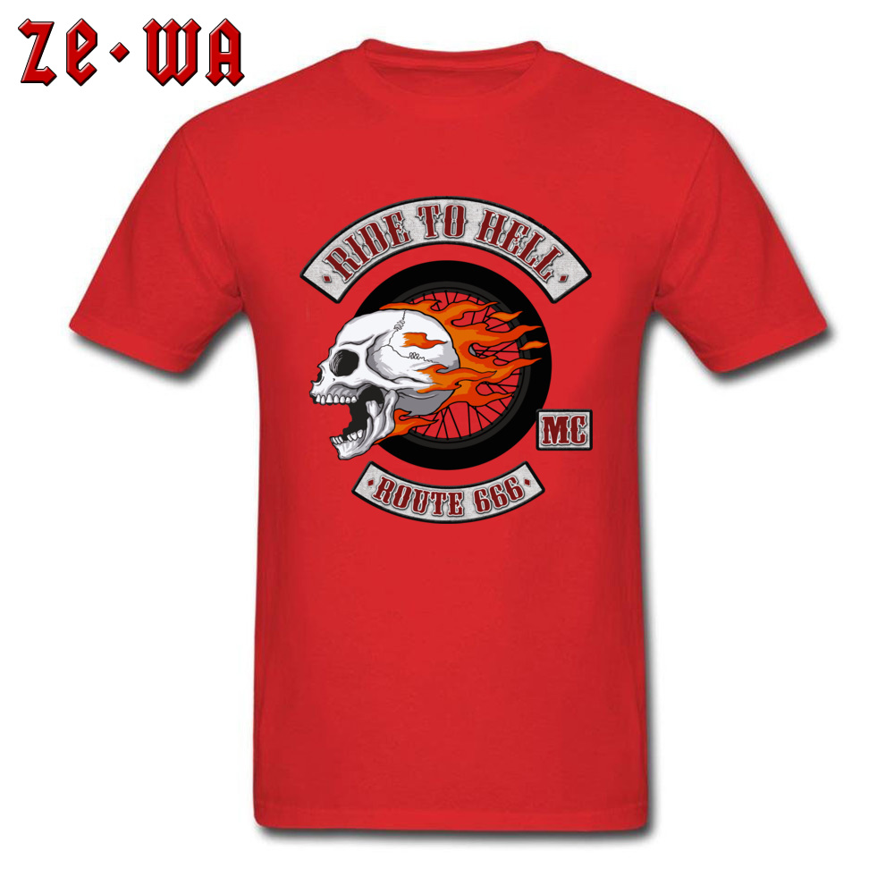 2018 Newest Men's T Shirt Rider Logo Printed T Shirts 100% Cotton Short Sleeve Printed Top T-shirts O-Neck Wholesale Rider Logo red