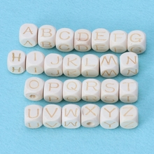 Buy 12mm Baby Teething Wood Letter Beads DIY Crafts Accessories Chew Wooden Beads Baby DIY Pacifier Chain Baby Nipple Feeding for $1.62 in AliExpress store