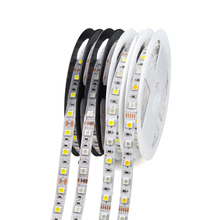 5M/Roll SMD5050 RGB RGBW RGBWW LED Strip lights DC 12V 60leds/m Flexible Ribbon Brighter than 2835 5630SMD lamp