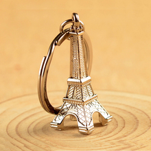 Silver Eiffel Tower mobile cell phone chain straps keychain Charm Cords DIY Hang Rope Lanyard For mobile phone Rope decoration(China)