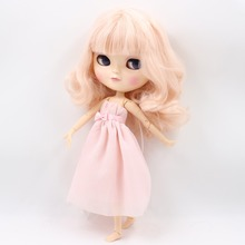 Free shipping fortune days icy doll BL2352 light pink hair natural skin joint azone body small chest 1/6 gift toy(China)