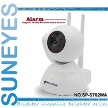 SunEyes SP-S702WA 720P HD Alarm P2P IP Camera Wireless Two Way Audio Support 433HZ Alarm Devices One Key Setup Wifi and Alarms
