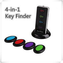 40M 4-in-1 Wireless Radio Electronic Key Finder Black Smart Electronic Key Finder Reminder Lost Keys Locator Alarm anti-Lost