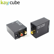 Kaycube New Digital to Analog Audio Converter Adapter Digital Adaptador Optic Coaxial RCA Toslink Signal to Analog Audio Convert