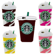 3D Starbuck Coffee Cup Ice Cream Soft Silicone Back Cover For iPhone 4/4s/5/5s/SE/5C/6/6S/6Plus/6s Plus/7/7 Plus Phone Cases