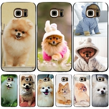 dogs perro pomeranian puppy cute cell phone case cover for Samsung Galaxy S7 edge PLUS S8 S6 S5 S4 S3 MINI
