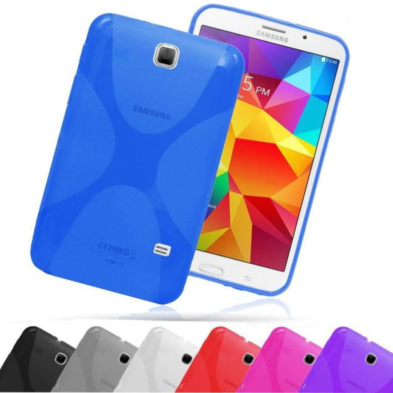 X Line Skin Tab Cover TPU Silicon Case Gel Soft Back Cover For Samsung Galaxy tab 4 8.0 T330/T331C/T335<br><br>Aliexpress