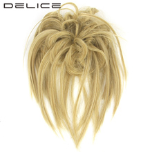 DELICE 20pcs/lot Girls Straight Hair Scrunchie With Rubber Band Wrap Hair Ring Heat Resistance Synthetic Hair Accessories(China)