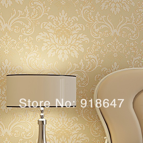 Wholesale High Quality Luxury Classic  Renovator Modern Damask Wallpaper Wall Paper Roll For Living /Bedding Room 53x1000cm<br>