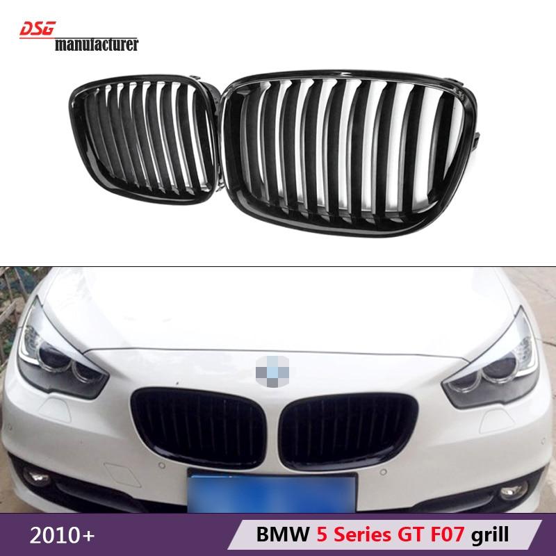 gt 5 black front bumper grill for bmw 2010 2011 2012 2013 2014 2015 2016 5 series gran turismo F07 535i 550i xDrive 530d 535d<br><br>Aliexpress