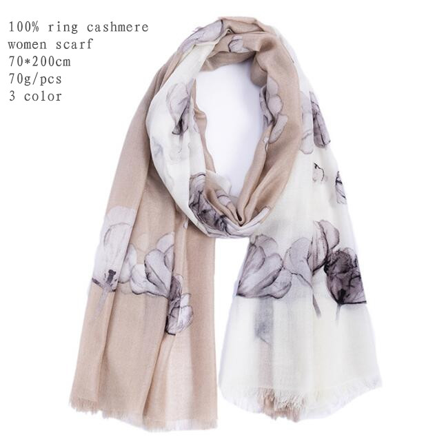 Naizaiga 100% thin Cashmere 70*200cm women Computer printing flower thin summer scarf air-conditioned room warm shawl,DX15