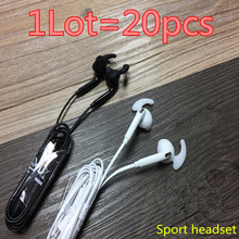 HOT! high quality 20pcs/lot S7 Headsets In-ear Earphones Headphones Hands-free with Mic Logo For Samsung HuaWel Nokia HTC Xiaom1