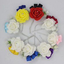 4PCS Custom Made Wedding Boutonniere the Best Man Coursage Groom Groomsman or Groom's Father Wedding Flowers Wedding Accessories(China)