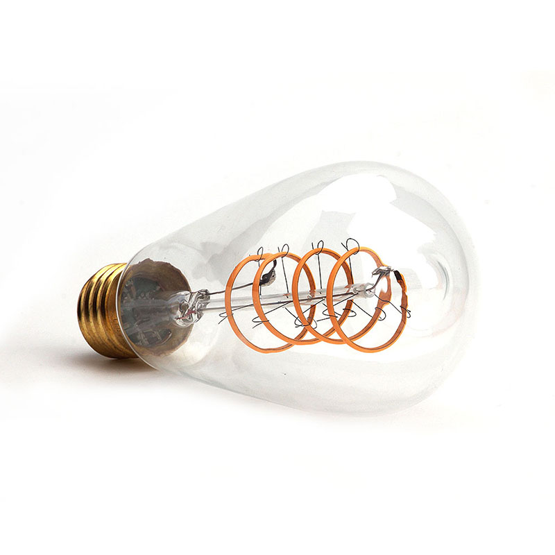LED Lamp ST64 Bulb E27 SEALIGHT Edison Flexible Filament  Vintage Spiral 220v 4w  2200K Bulbs LED holiday lights For Home Decor
