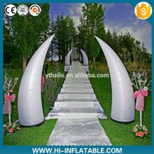 Wedding with led inflatable pillar for activity