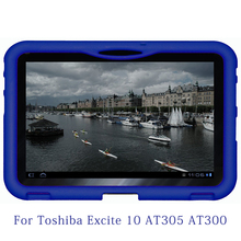 MingShore Silicone Tablet Cover Case For Toshiba Excite10 AT300 10.1inch Shockproof Cover For Toshiba Excite 10 AT305 Tablet(China)