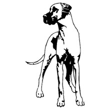 8.3*14.7CM Great Dane Dog Vinyl Decal Personality Waterproof Car Stickers Car Styling Decoration Black/Silver S1-0520(China)