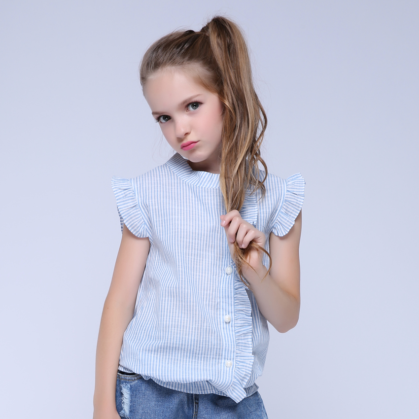 Girl Shirt Brand 17 Cotton Girls White Blouses High Quality Solid Teenage School Uniform Shirt Long Sleeve Spring Kids Clothes 3