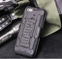 Combination Cool Black Armor Cases On For iPhone 4 4S 5 5S SE 6 6S 7 6Plus 6S 7Plus TPU Silicone Cases Full Housing Strap Clip