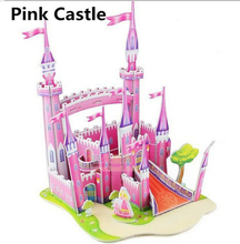 Hot New Arrival Cute Educational 3D Model Castle Foam Puzzle Jigsaw Crafts Children Kids Toy Great Gift
