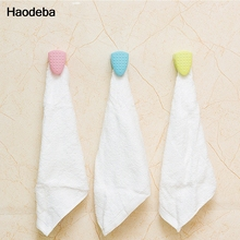 Candy Color Kitchen Accessories Wash Cloth Clip Holder Clip Wall Shelf Bath Room Storage Hand Towel Rack 3colors(China)