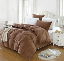Brown Cotton twin full queen king size duvet cover comforter cover quilt cover 1pcs Duvet Cover 160X210cm/220x240cm/200x230cm(China)