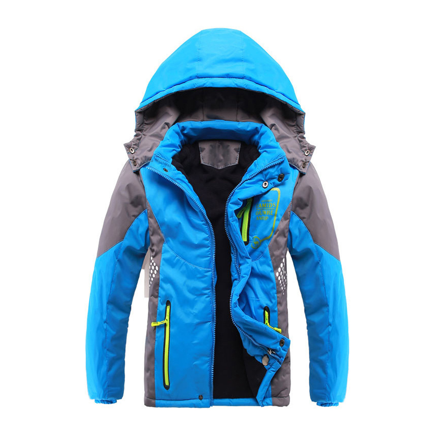 Children Outerwear Warm Coat Sporty Kids Clothes Double-deck Waterproof Windproof Thicken Boys Girls Jackets Autumn and Winter<br>