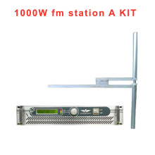 FMUSER FSN-1000W 1000 watts 1 kw FM Transmitter Radio Broadcast with DV2 dipole Antenna(China)