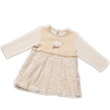 Newborn Baby Girl Organic Cotton Long Sleeve Lace Princess Christening Dresses Infant Baby Girls Birthday Party Dress Clothes(China)
