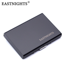 EASTNIGHTS 2017 Stainless Steel Card Holder Credit Card Wallet Men Business Rfid Metal Travel Wallet Men Credit ID Card Holder(China)