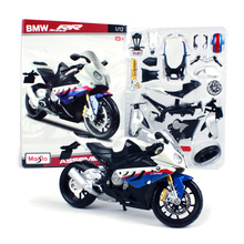 Scale 1:12 Maisto Assembly Motorcycle Toy DIY Alloy & ABS S1000 RR Motor Cycle Model Assembling Building Kits Kids Toys Juguetes