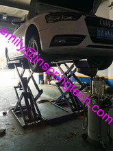 on ground scissor car lift auto lift with 1900mm lift height model SP-CB3500