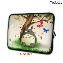 Totoro print Laptop pouch Tablet bag PC Protective Case Cover 7 9.7 12 13 13.3 14 15.6 17.3 inch Notebook liner Sleeve NS-23807