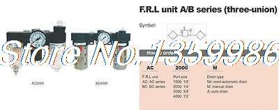 1pcs AirTAC Type 3/8 BSPT Air Pressure Filter Regulator Lubricator 1500 L/min<br>