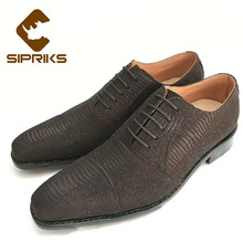 SIPRIKS Luxury Mens goodyear welted shoes elegant boss shoes Italian handmade men oxfords dress shoes hipster mens suits shoes(China)